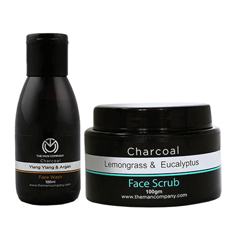 The Man Company Face Scrub + Face Wash Grooming Combo Set