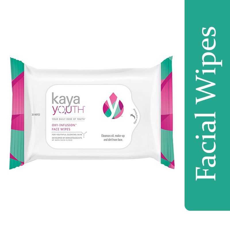 Kaya Youth O2 Oxy-Infusion Face Wipes 30S