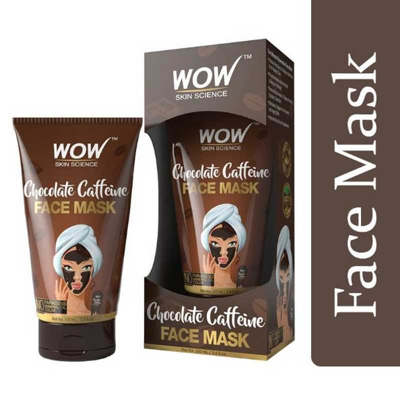 WOW Skin Science Chocolate Caffeine Face Mask Tube 100ml