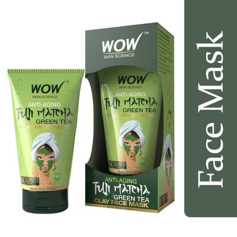 WOW Skin Science Anti-Aging Fuji Matcha Green Tea Clay Face Mask Tube 100ml