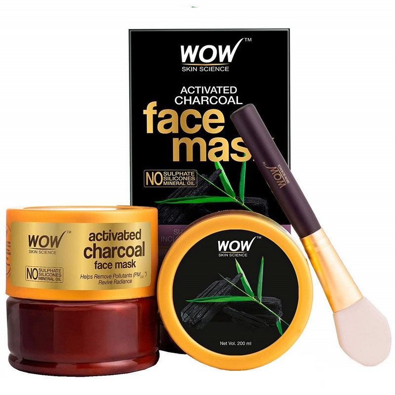 WOW Skin Science Activated Charcoal Face Mask 200ml