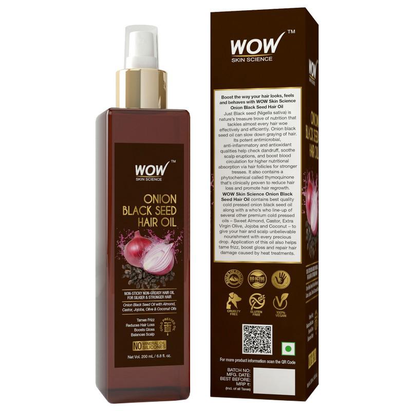 WOW Skin Science Onion Black Seed Hair Oil 100ml