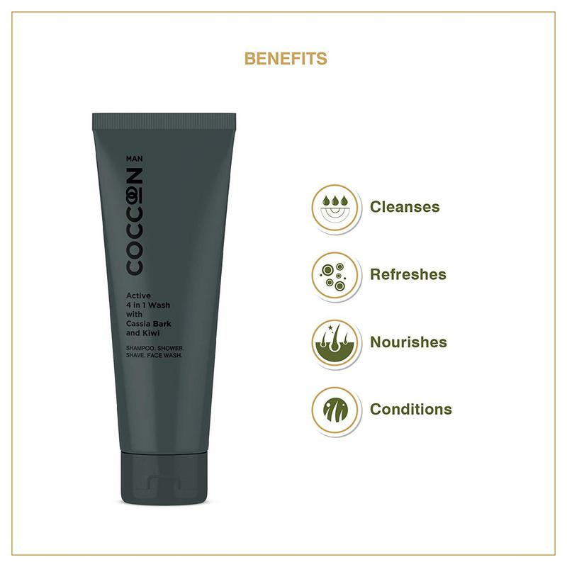 Coccoon Man Active 4 In 1 Wash With Cassia Bark & Kiwi 100ml