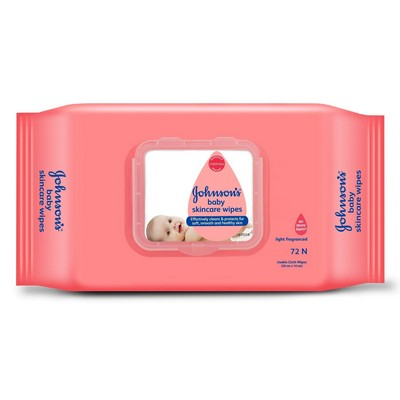 Johnsons Baby Skin Care Wipes 80 Wipes