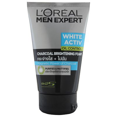 L'Oreal Paris Men Expert White Activ Charcoal Brightening Foam 100ml