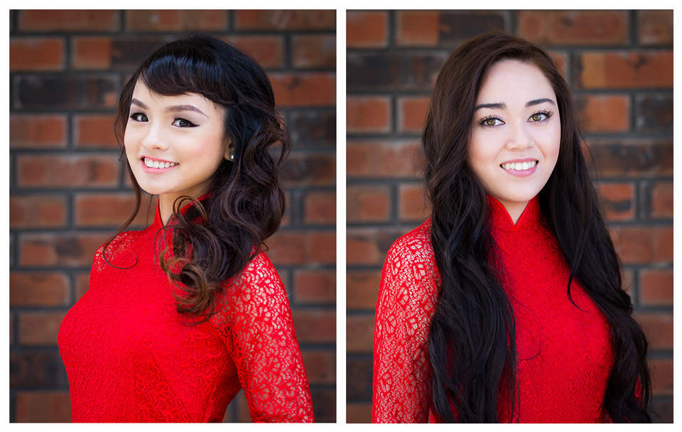 Red Áo Dài - Miss Vietnam of Northern CA 2015 - Image 002