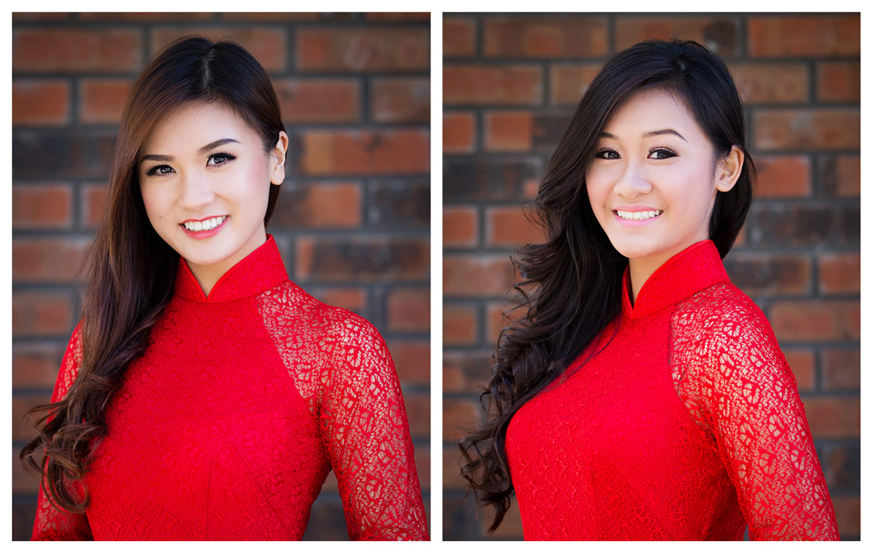 Red Áo Dài - Miss Vietnam of Northern CA 2015 - Image 006