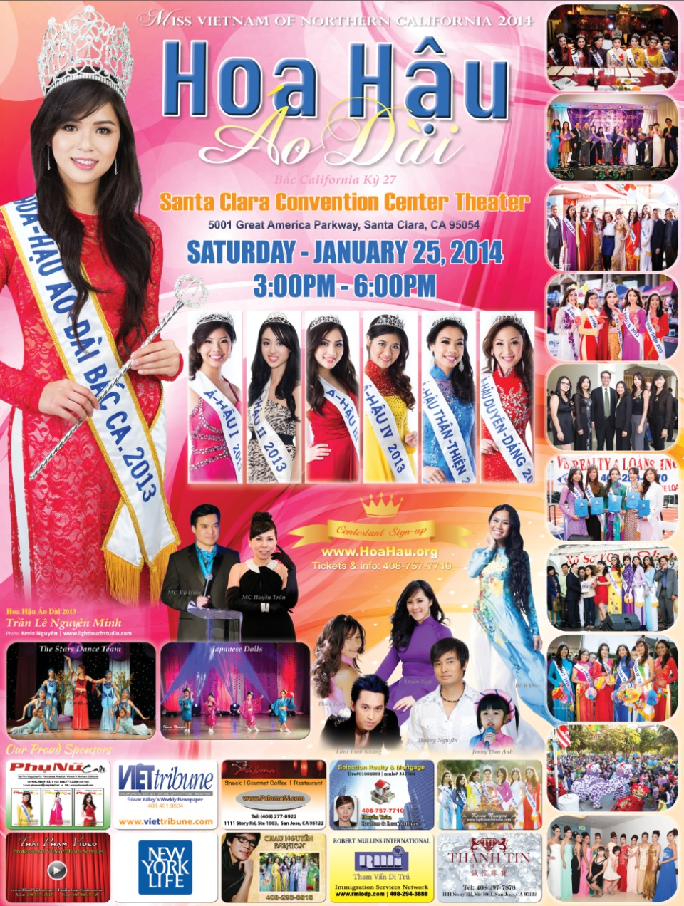 Hoa Hau Ao Dai Bac Cali Miss Vietnam of Northern California 2014 Poster
