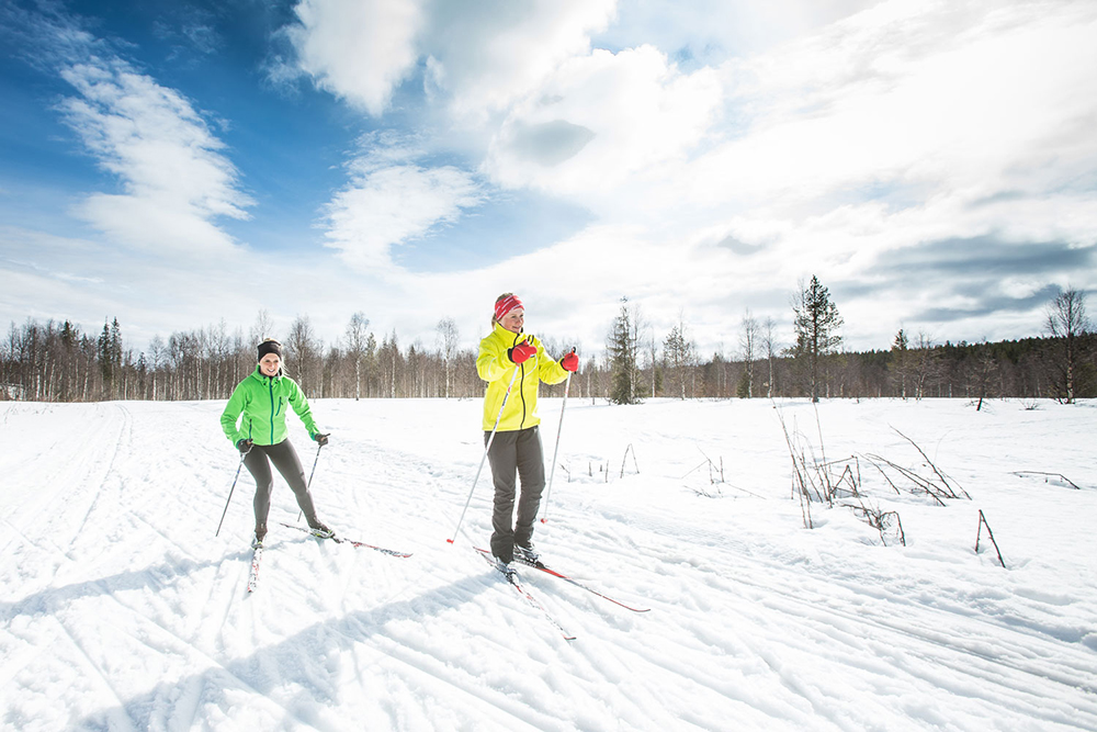 Lapland, Levi cross-country skiing