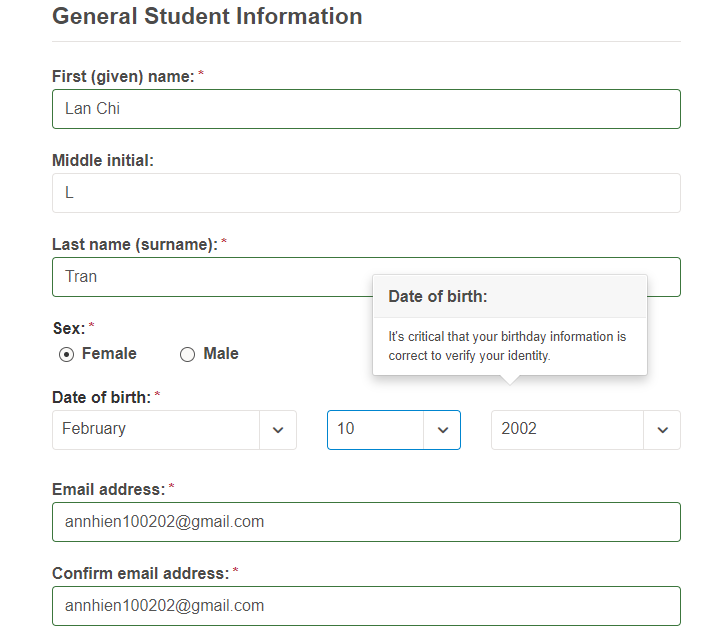 college board name sign up