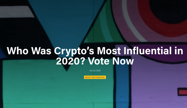 2020 Crypto's Most Influential people