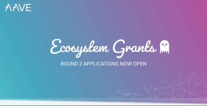 Aave ecosystem grants Round 2 invite banner