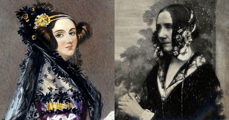 Ada Lovelace, painting and photograph