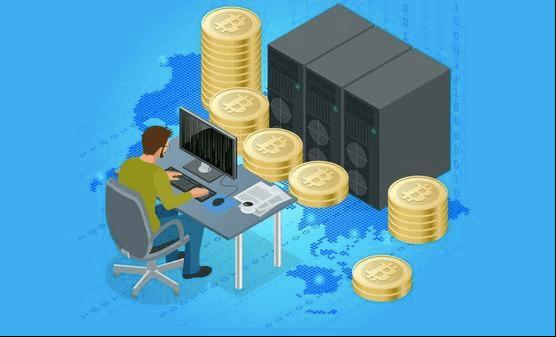 Illustration of a Bitcoin miner