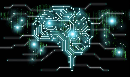 Depiction of brain and neural network