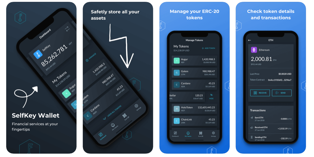 SelfKey for iOS promotional screenshots