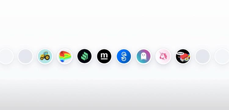DeFI dApp logos
