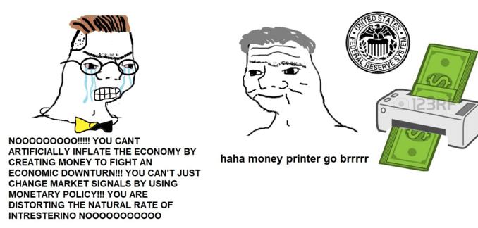 Money Printer go BRRR meme