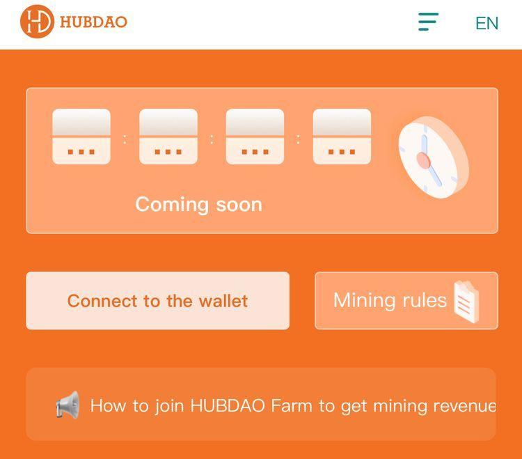 When will mining work on HubDAO?