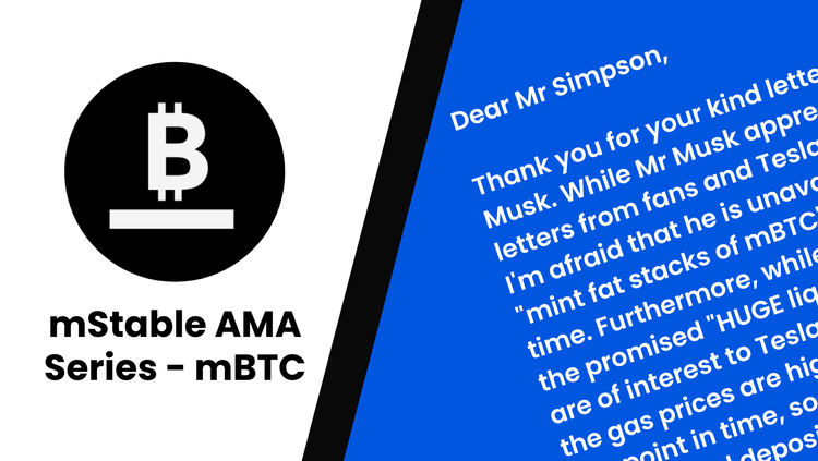 Monthly AMA Series: mBTC Launch