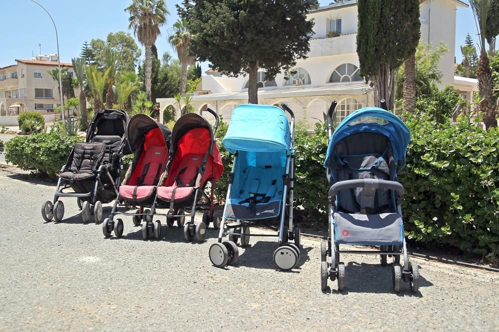 A selection of our strollers and prams