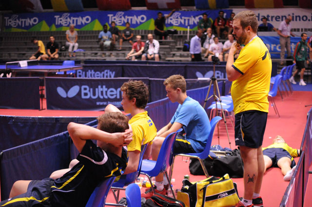 European Youth Championships Riva del Garda 2014 - Swedish Junior Boys Table Tennis National Team
