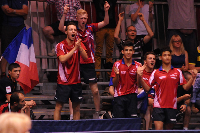 Frankreich Tischtennis Jugend-Nationalmannschaft - French Table Tennis Junior National Team