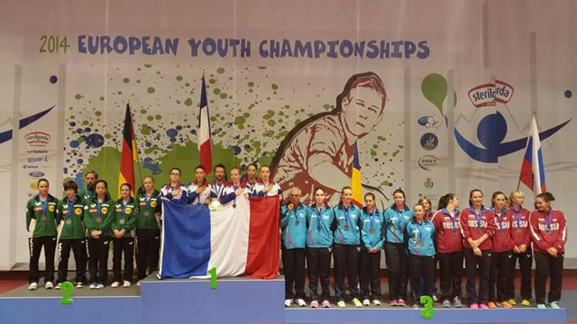 European Youth Championships 2014 Riva del Garda - French Table Tennis Nationalteams domination