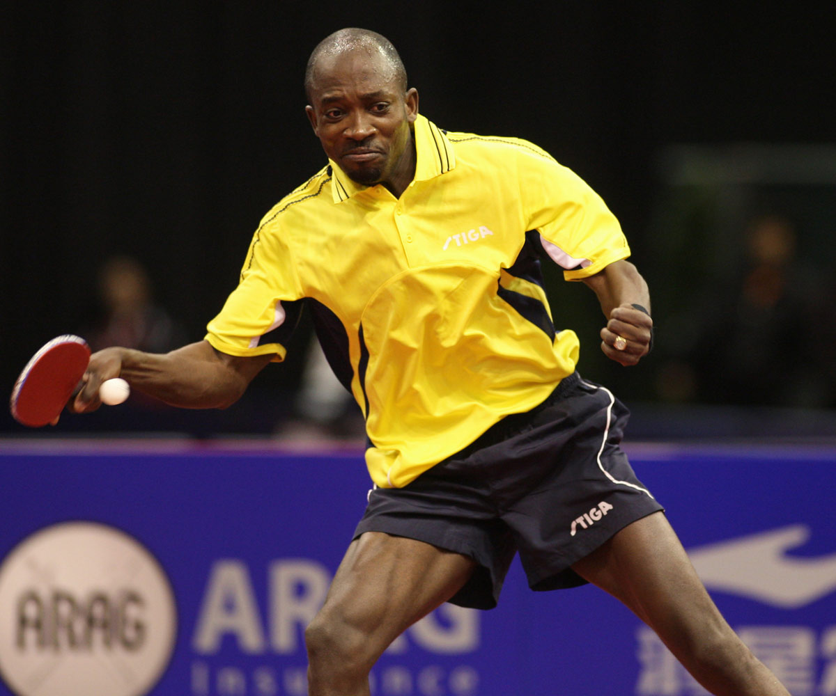 Segun Toriola 7th Olympic Games - now also 7 Club member together with Jörgen Persson, Jean-Michel Saive, Zoran Primorac