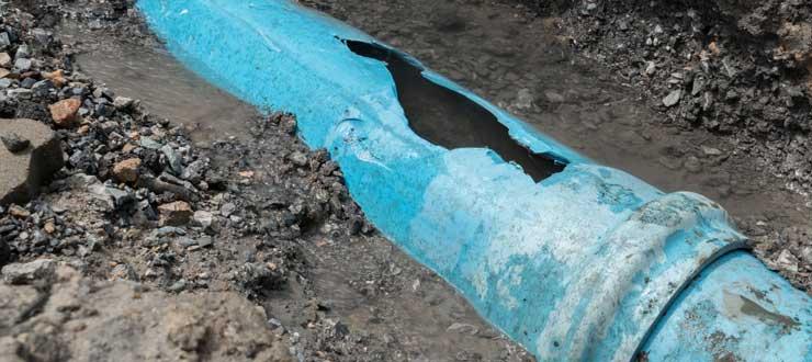 Réparation fuite canalisation évacuation enterrée