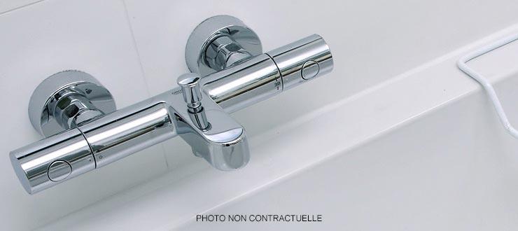 Pose mitigeur thermostatique de baignoire