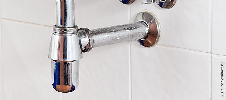 Changement du siphon / bonde lavabo en laiton chromé