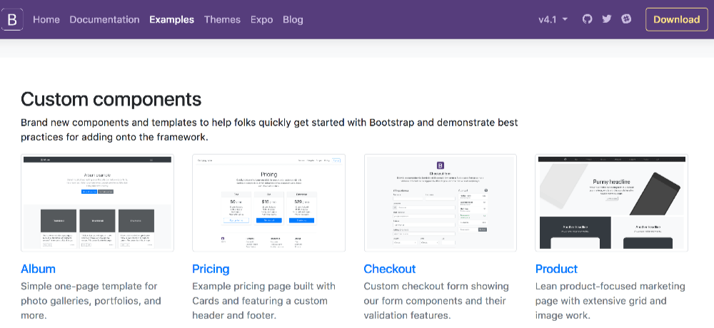 Bootstrap4 Examples