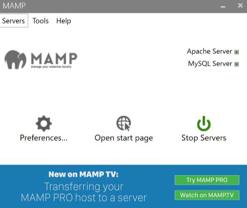 MAMPをインストールして起動する3