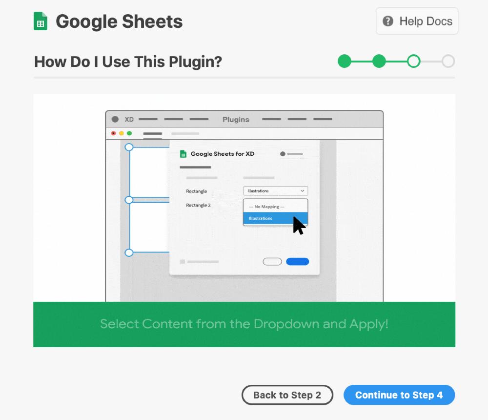 XDでおすすめのプラグイン Google Sheets
