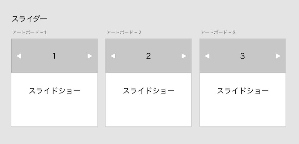 XDでスライドショーを作る方法 STEP2.アートボードをコピーしスライドの位置を修正