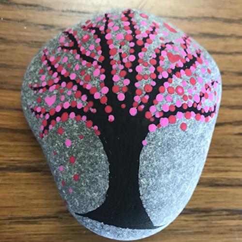 Seasonal Tree Rock Painting at Prairiewoods