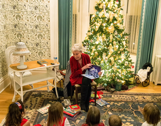 Search santa snacks and stories at brucemore   photo by justin torner photography