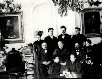 Search family photo parlor maybe xmas time 1891 1895 edited