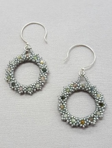 Gyrls Night Out:  Gemstone Circle Earrings