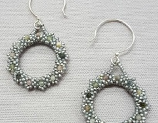 Search gemstone circle earrings peyote beadology iowa