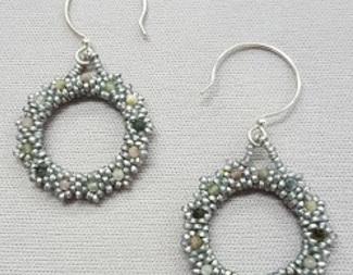 Search gemstone circle earrings peyote beadology iowa