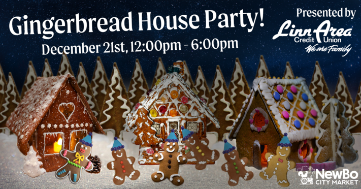 Gingerbread House Party at NewBo Market!