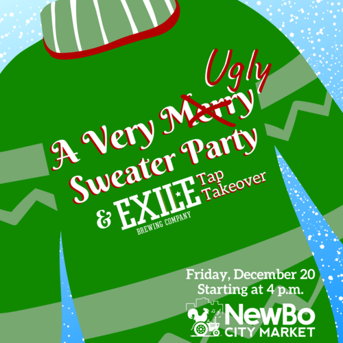 A Very Ugly Sweater Party at NewBo Market!
