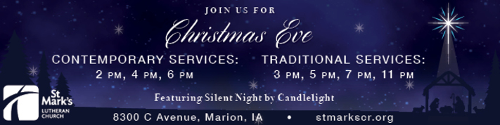 St. Mark's Christmas Eve Service