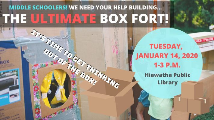 Middle Schoolers: Help Us Make the Ultimate Box Fort!