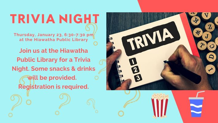 Trivia Night at Hiawatha Public Library