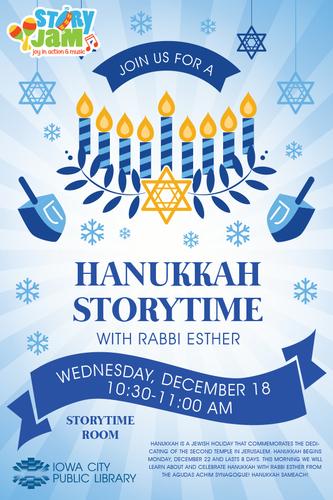 Hanukkah Storytime with Rabbi Esther