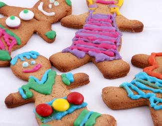 Search gingerbread men decorated