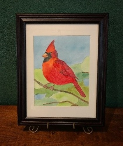 Watercolor and Wine: Paint a Cardinal in Watercolor